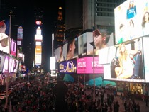 The glamour of Times Square best seen in the night
