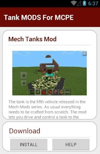 Tank MODS For MCPE - screenshot