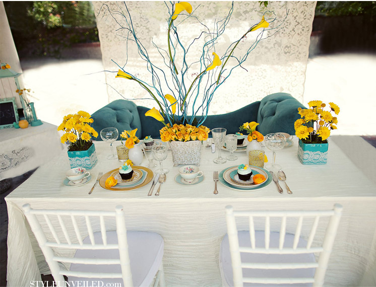 Teal & Yellow Inspiration