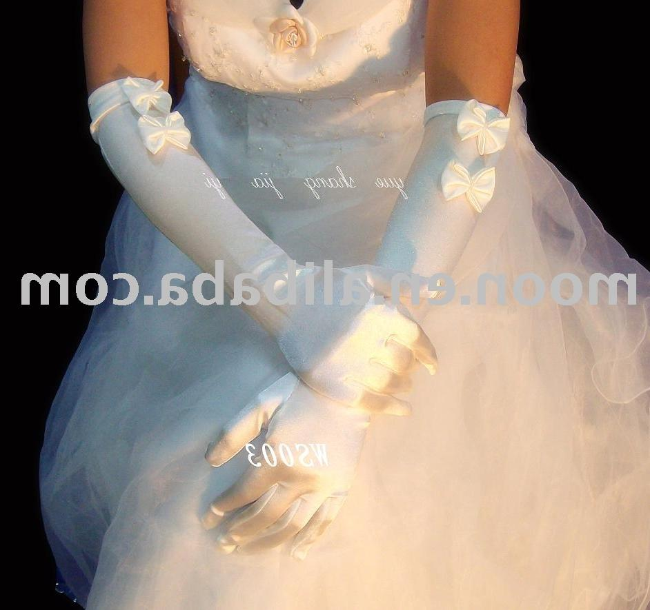 Bridal brocade glove WS003