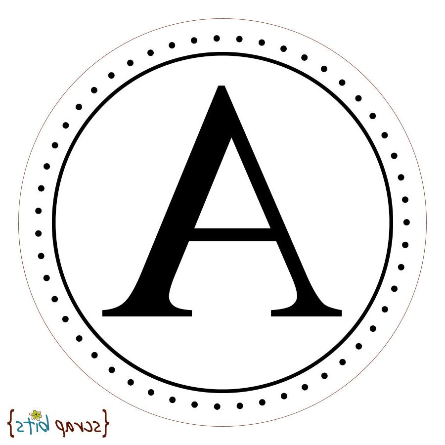 CLASSIC MONOGRAM Round Stickers for Wedding Favors, Candy Buffet or
