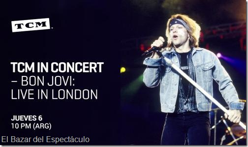 Bon jovi live in london 1995 tcm in concert horario for Bazar online argentina