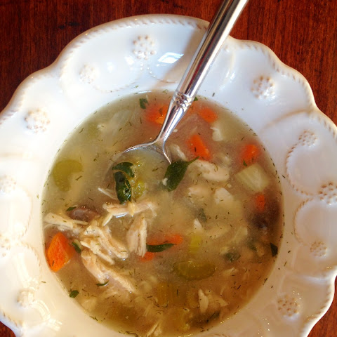 Slow Cooker Detox Chicken and Brown Rice Soup