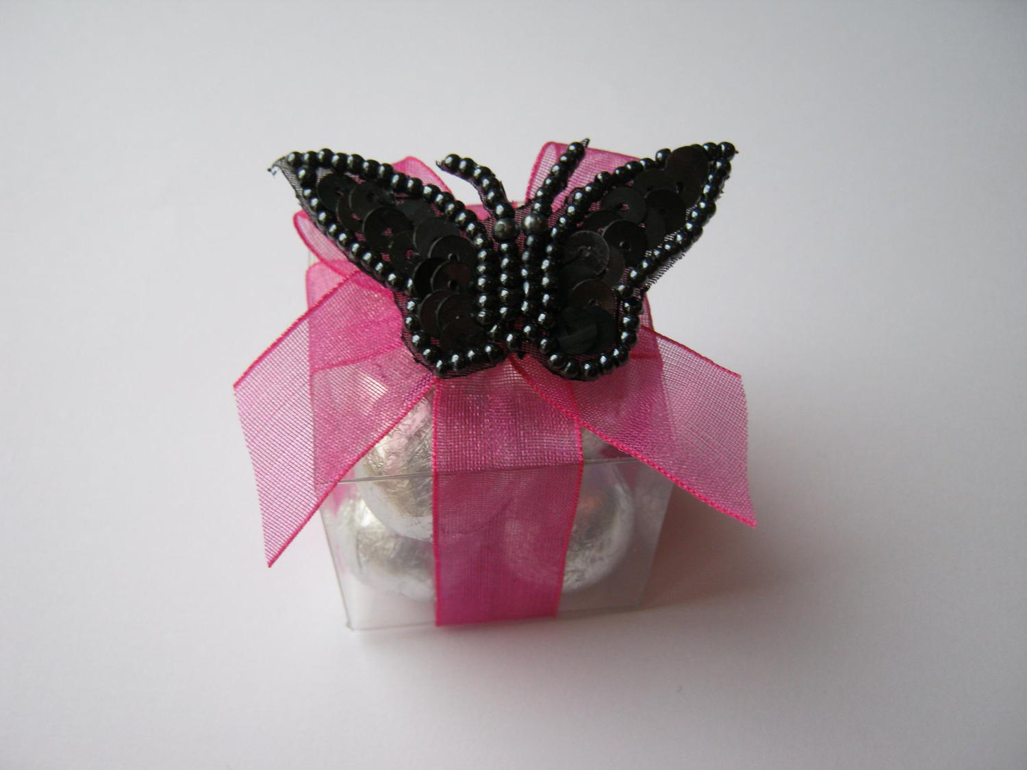 Hot PInk & Black Favors