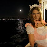 heather with the full moon in Tokyo, Tokyo, Japan