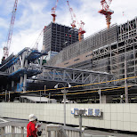 construction at osaka station in Osaka, Osaka, Japan