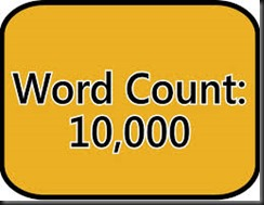 10000 words seem popular!