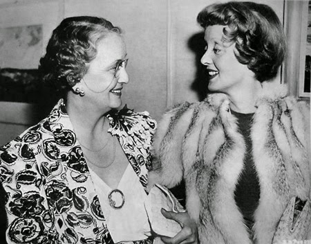 Bette Davis and mother