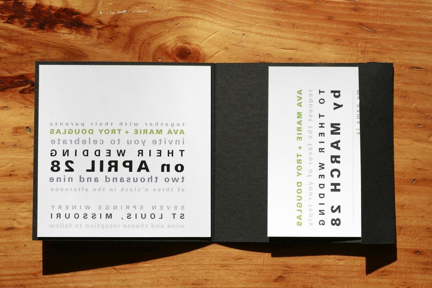 Type Block Wedding Invitation