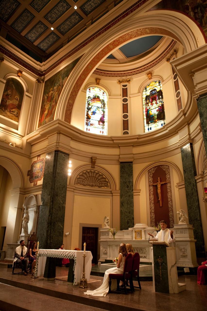 classic catholic wedding