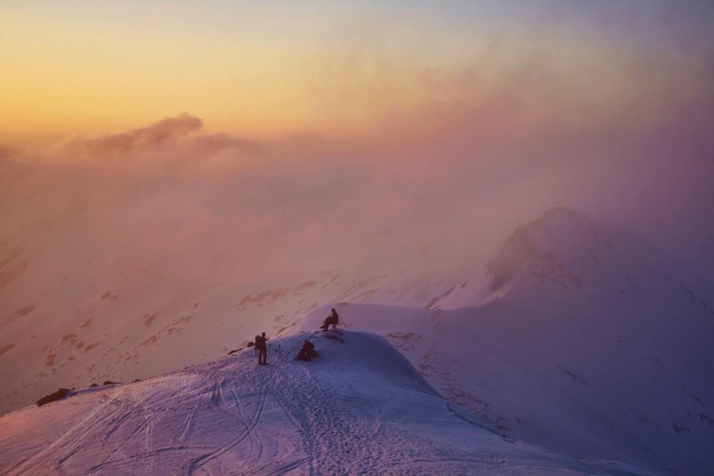 Zachód słońca na Skrajnej Turni