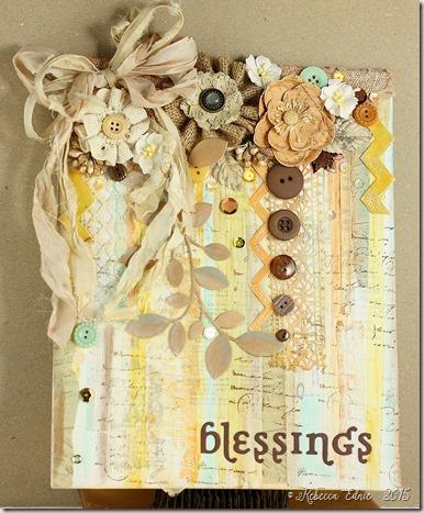 fall mixed media blessings