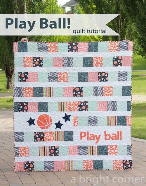 Play Ball quilt tutorial