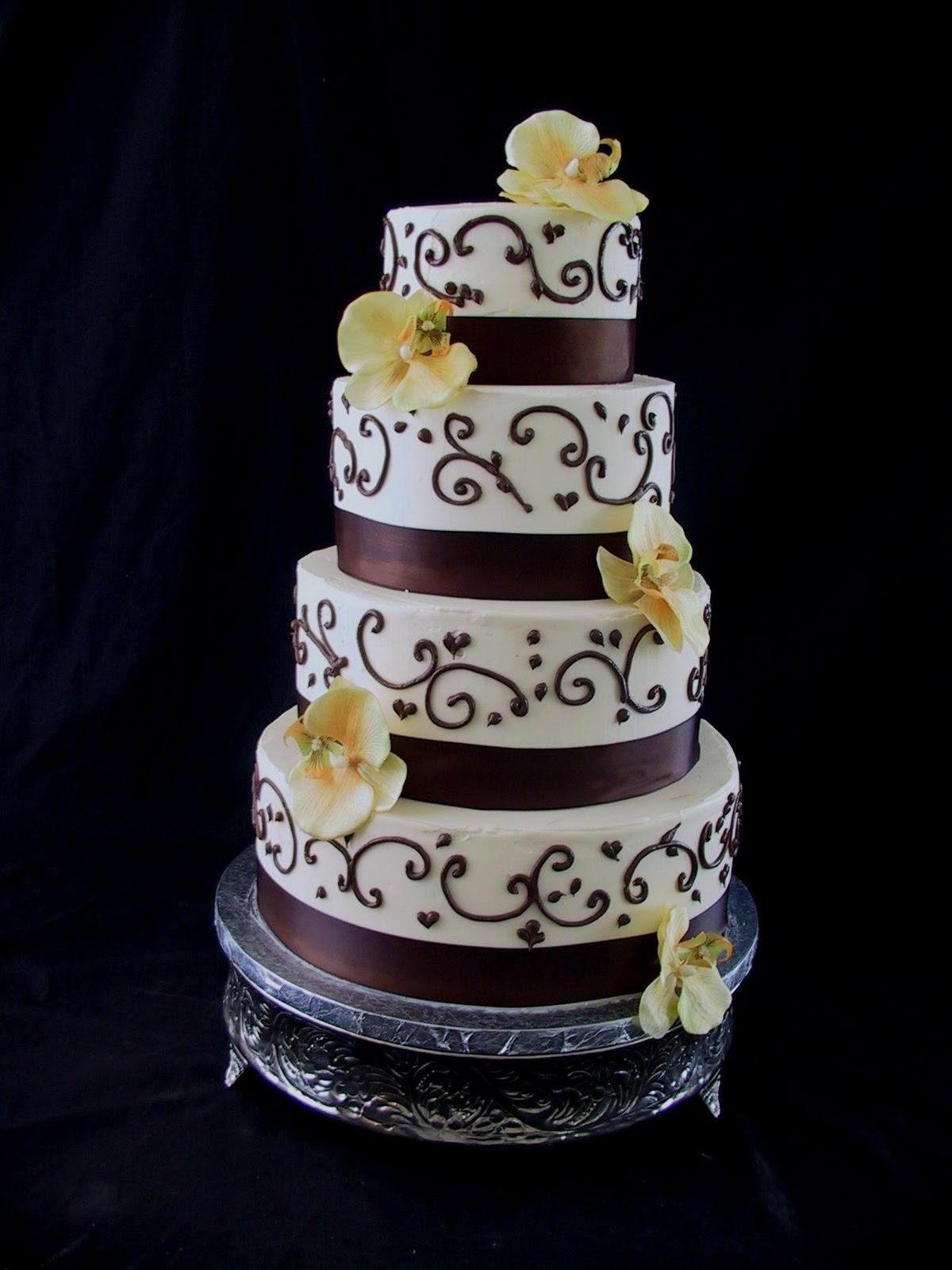 Wedding Cake     Chocolate Brown