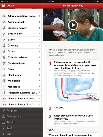 ipad App-bleeding
