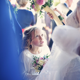 Flower Girl at a Wedding in Kilkee by Kaspars Sarovarcenko - Wedding Bride & Groom ( wedding photography ireland, wedding photographer ireland, wedding photographer, wedding photographer in ireland )