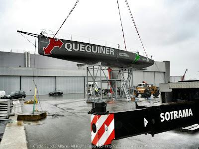 Sortie d'eau pour Queguiner à Lorient.