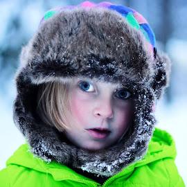 by Elizabeth Robinson - Babies & Children Children Candids ( child, winter, furhat, cold,  )