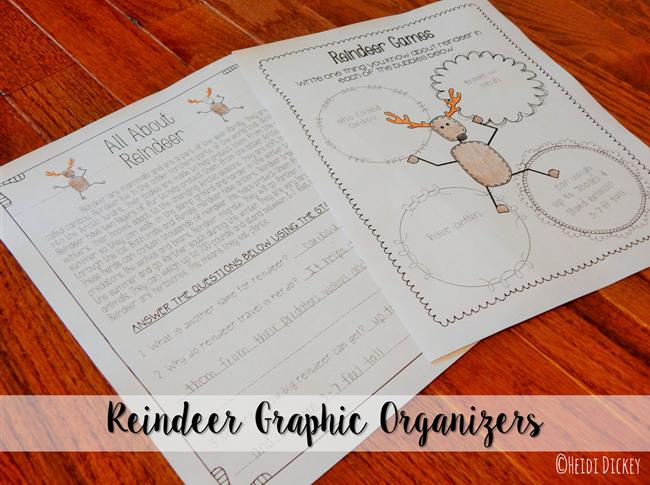 Reindeer Graphic Organizers 2