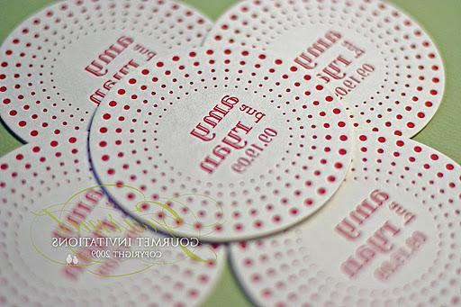 Her dot wedding invitations