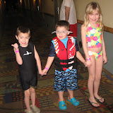 Hannah, Logan Vojtko and Bryan going to the water park in Kalahari in OH 02192012b