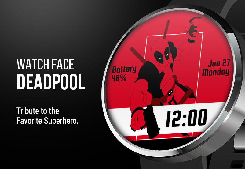 Deadpool Watch Face Screenshot