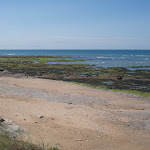 Strand während der Ebbe / Пляж во время отлива
