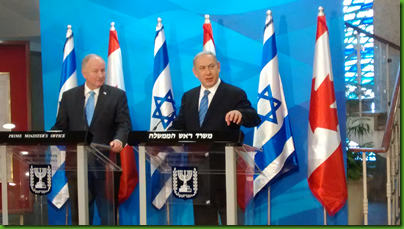 Israeli prime minister Benjamin Netanyahu and Canadian foreign minister Rob Nicholson, June 3, 2015 in Jerusalem