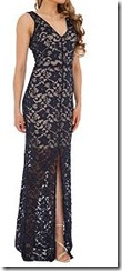 Badgley Mischka lace maxi dress