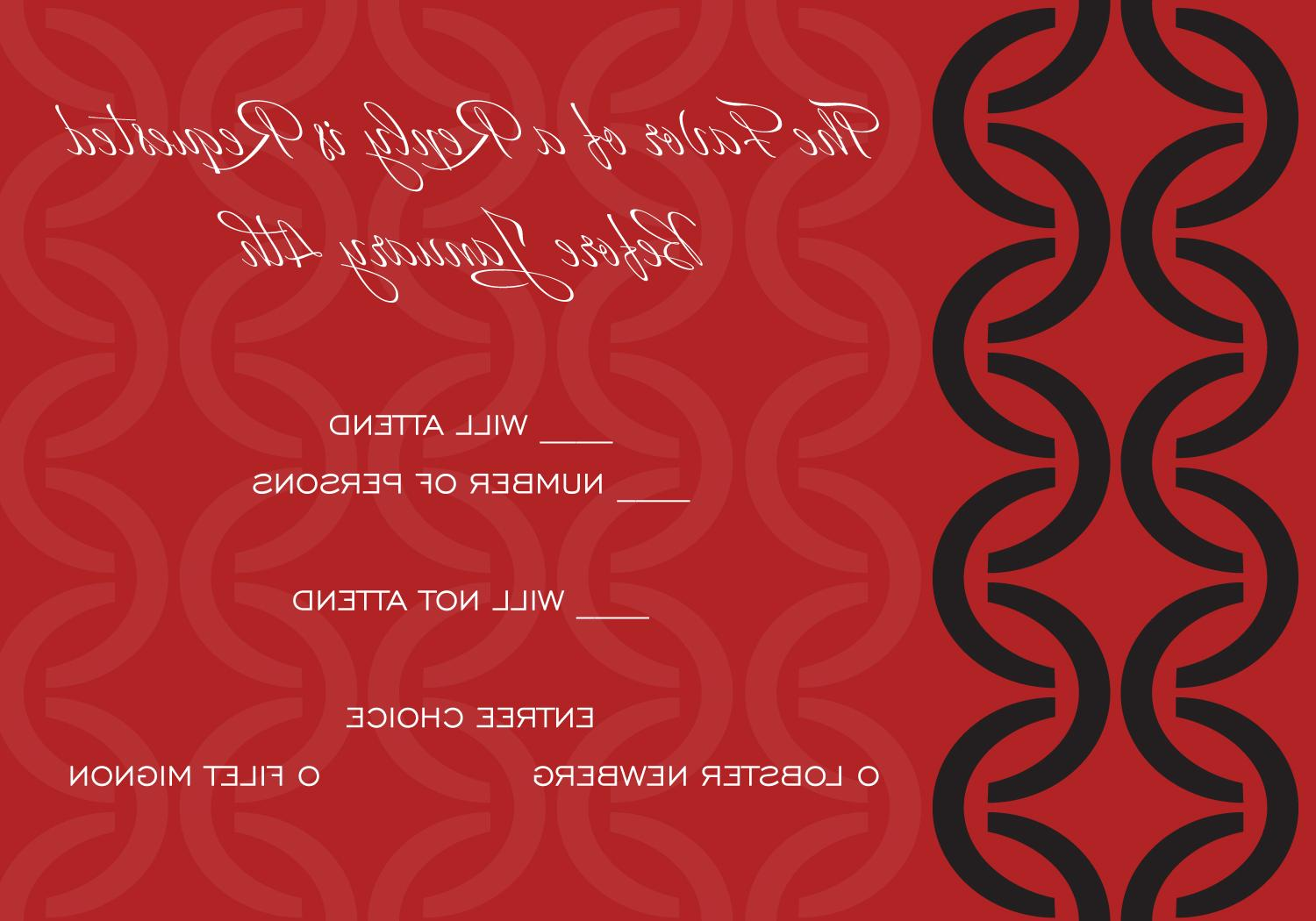 Half Circles Black and Red Response Card by Noteworthy Collections