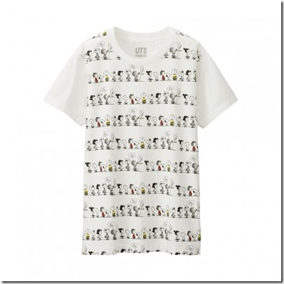 UNIQLO UT X Peanuts Movie Women Short Sleeve Graphic T-Shirt 07