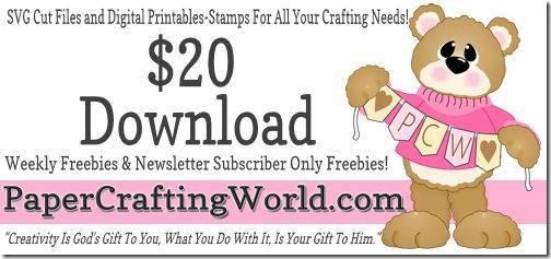 PaperCraftingWorld.com 20 Download Gift Certificate