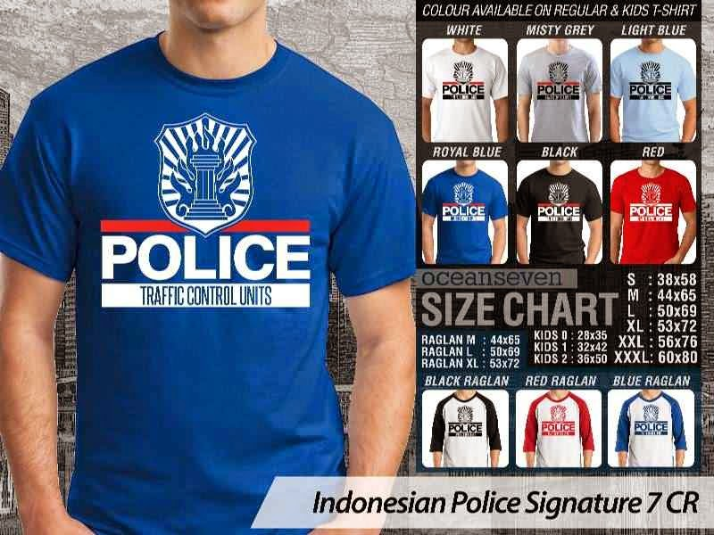 KAOS Indonesian Police Signature 7 | KAOS Police Traffic Control Units distro ocean seven