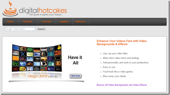 Video Backgrounds and Video Effects by Digital Hotcakes