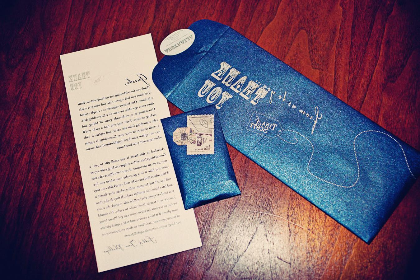 royal blue envelope,