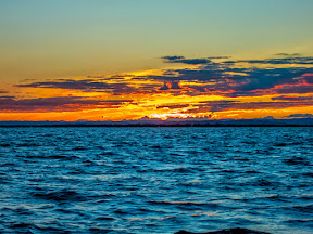 A couple days later, myself and our home builder were on a sailing boat from Port St Louis out to Nosy Mitsio.  The boat left at 3am, so we saw the sunrise over the water while we were still on the way.  Very beautiful!