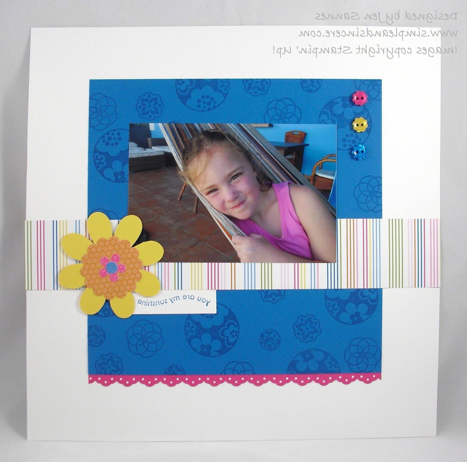 We made this scrapbook page at
