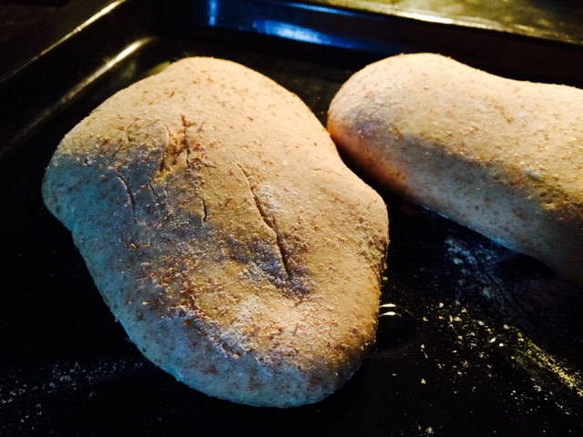 Whole wheat pitta breads