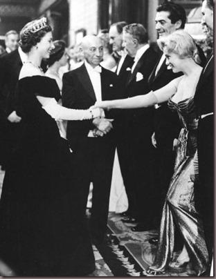 Marilyn Victor Mature Elizabeth II