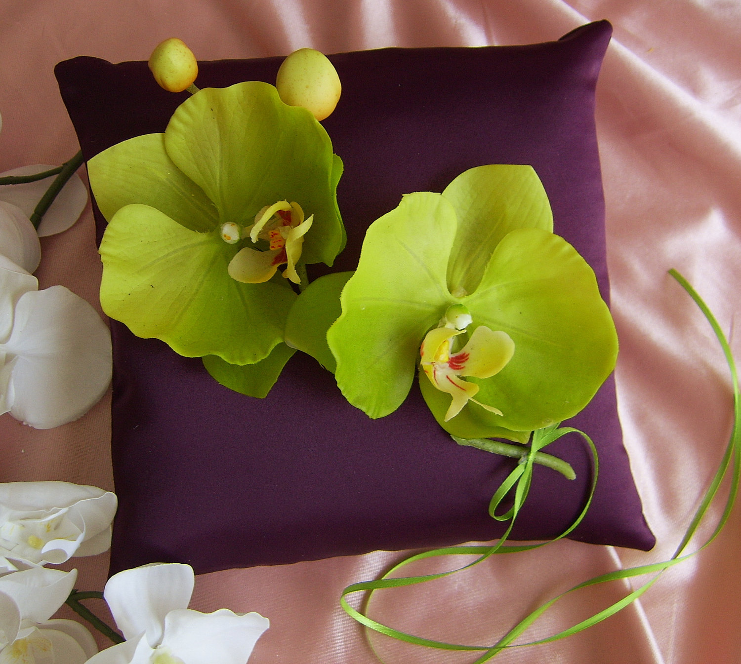 Eggplant and Green Orchid