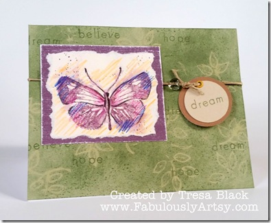 Dream butterfly card