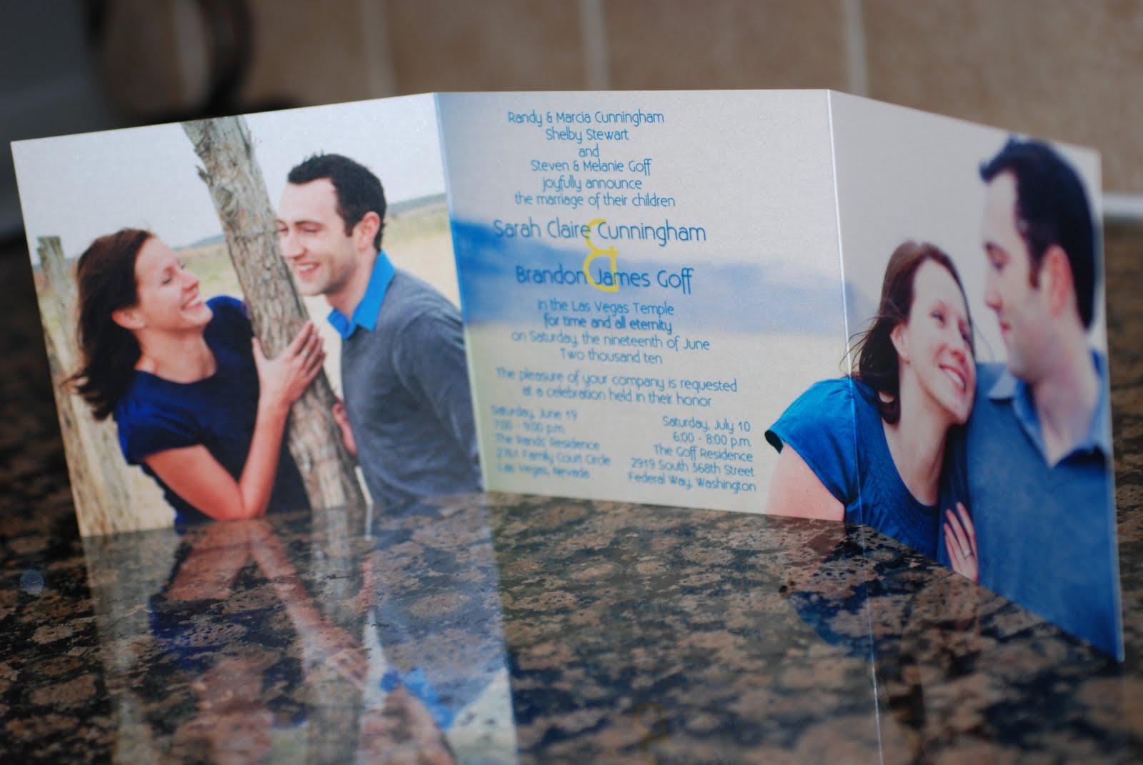 5x5 Tri Fold Wedding