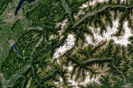 Valle d'Aosta, Italia<br /><br />(Google Earth View)