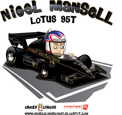 Найджел Мэнселл Lotus 95T Crazy Circus Marchesi Design