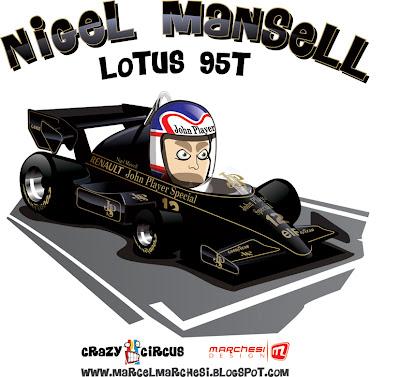 Найджел Мэнселл Lotus 95T Crazy Circus Marchesi Design