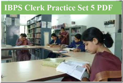 IBPS Clerk Preliminary Question paper PDF Set5  download