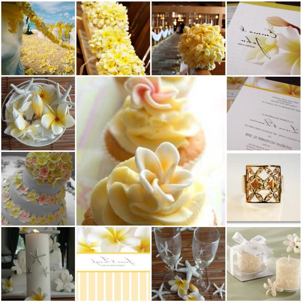 Frangipani bouquet and aisle