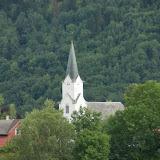 Een kerkje in Vikøyri.