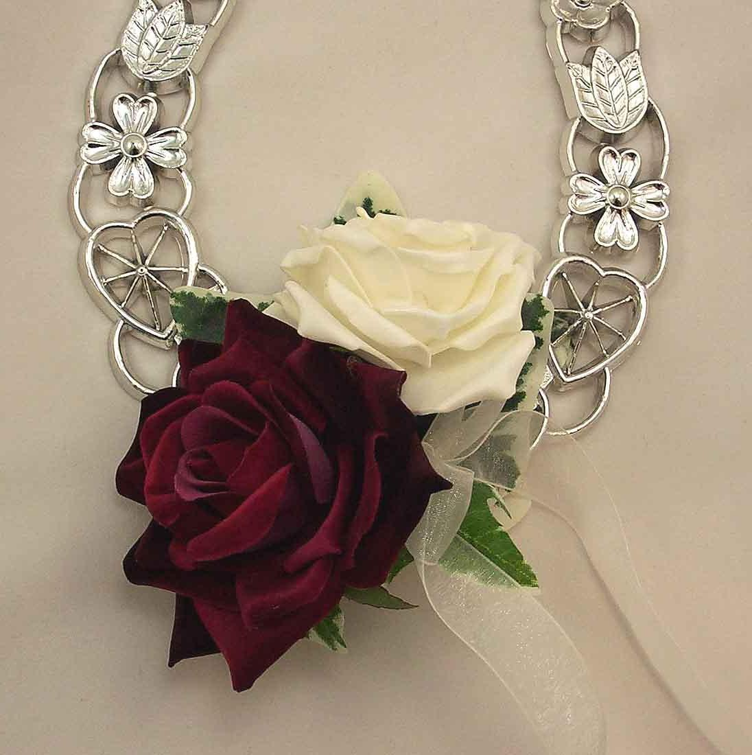 Burgundy & Ivory Rose