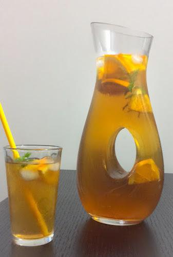 Mrożona herbata z pomarańczą